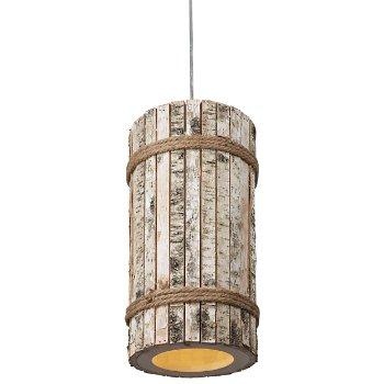Woody 1-Light Tall Pendant, lit
