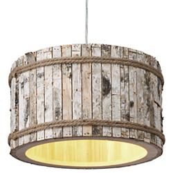 Woody 1-Light Drum Pendant