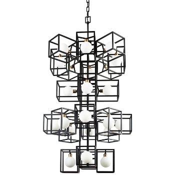 Plaza 24-Light Foyer Pendant, unlit