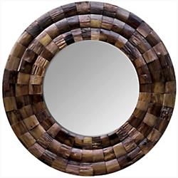 Wine Country Reclaimed Wood Circular Mirror