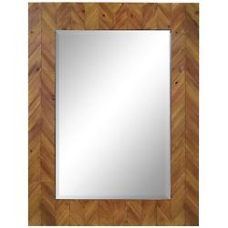 Deco Reclaimed Wood Rectangular Mirror
