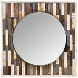 Country Pine Reclaimed Frame Mirror