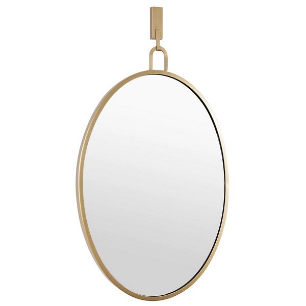 Stopwatch Oval Powder Room Mirror