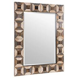 Tiki Reclaimed Wood Accent Mirror