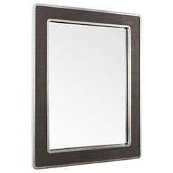 Macie Rectangular Wood and Metal Mirror