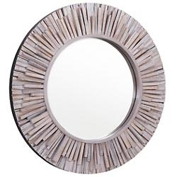 Nellie Circular Wood Mirror