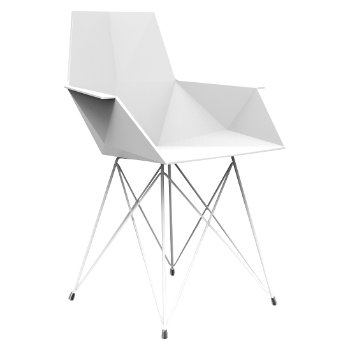 Faz Armchair with Steel Base