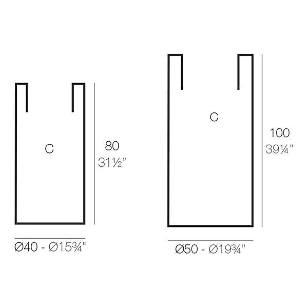 Cilindro Alto LED Planter