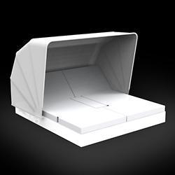 Vela 4 Reclining Square Daybed with folding sunroof Illuminated