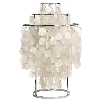 Fun Mother Of Pearl Table Lamp