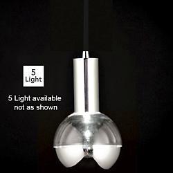 Rhea LED Multi-Light Pendant (Black/Bottom/5 Lt.) - OPEN BOX