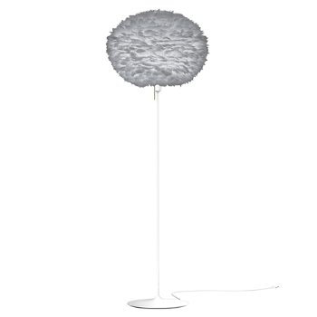 Shown in Grey shade, White finish, Large size
