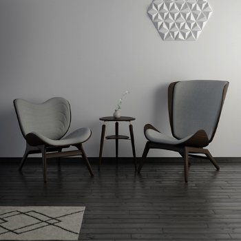 Reader Lounge Chair, A Conversation Piece Lounge Chair and My Spot Side Table