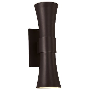Double Funnel Outdoor Wall Sconce