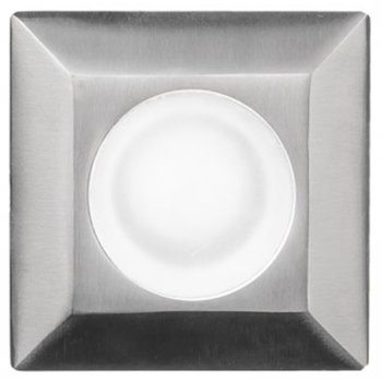 Top view in Stainless Steel finish, Square with Standard Lens