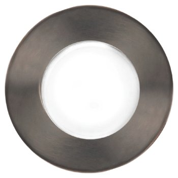 Top view in Bronzed Stainless Steel finish, Round with Standard Lens
