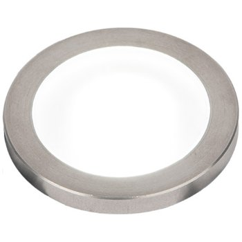 Top view in Stainless Steel finish, Slim with Standard Lens