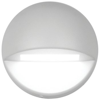 Shown lit in White on Aluminum finish