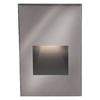 Shown lit in Cast Stainless Steel finish