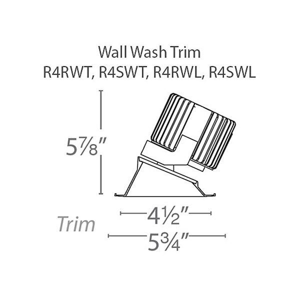 Volta 4.5-Inch LED Wall Wash Invisible Trim