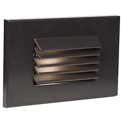 Horizontal Louvered LED Step and Wall Light