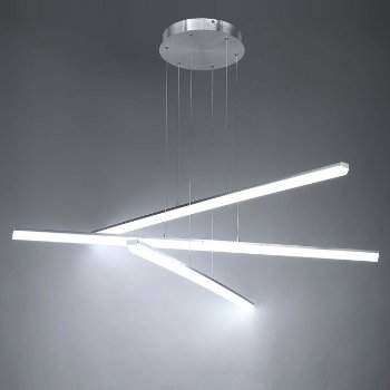 Shown in Brushed Aluminum finish, 3 Light