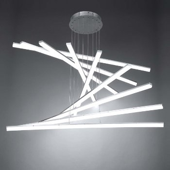 Shown in Brushed Aluminum finish, 9 Light