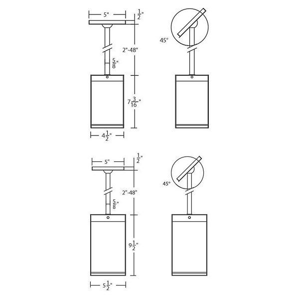 Cube Architectural LED Pendant