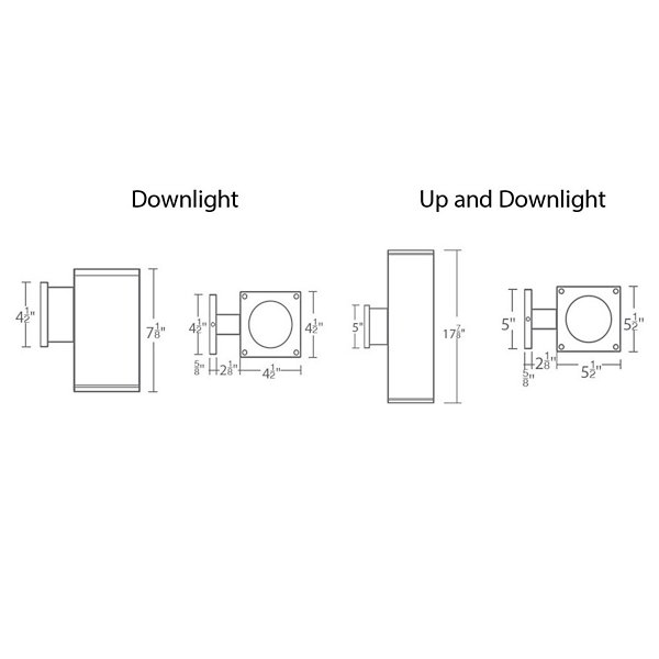 Cube Architectural LED Wall Sconce