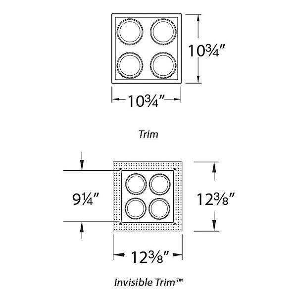 Precision Multiples 4-Inch 2X2 Trim