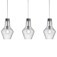 Romeo&Giulietta 3-Light Multi-Light Pendant - Transparent