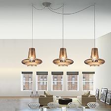 Romeo&Giulietta 3-Light Multi-Light Pendant - Metallic