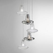 Romeo&Giulietta 5-Light Multi-Light Pendant - Metallic