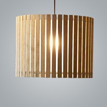 Shown in Natural Oak and Bronze finish, Medium size