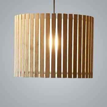 Shown in Natural Oak and Bronze finish, Large size