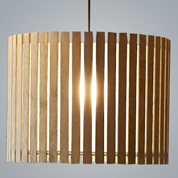 Shown in Natural Oak and Bronze finish, Extra Large size