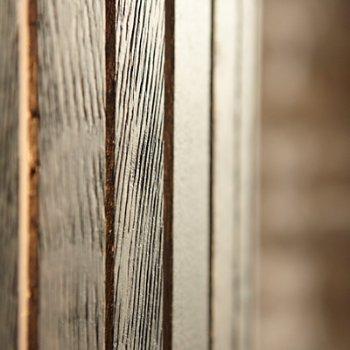 Shown in Dark Oak finish, Detail view
