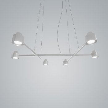 Shown in White finish, 6 Light