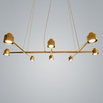 Shown in Brass finish, 8 Light
