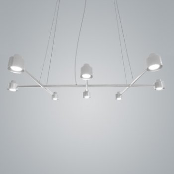 Shown in White finish, 8 Light