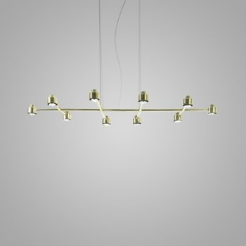 Shown in Brass finish, 10 Light