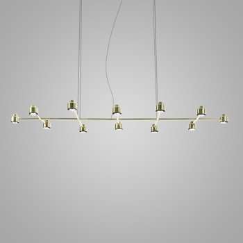 Shown in Brass finish, 12 Light