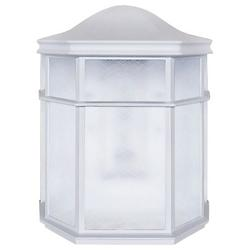 Alexa LED White Outdoor Wall Sconce