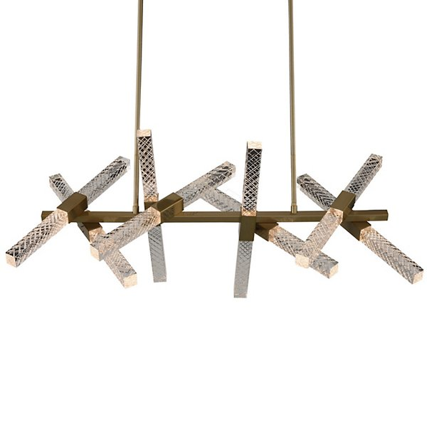Allegri by Kalco Lighting Apollo Linear Chandelier - 034960-038-FR001 - Color: Gold