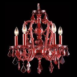 Crimson Blvd. Crystal Chandelier