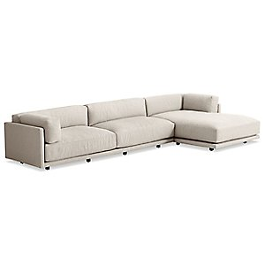 Sunday Sofa with Chaise by Blu Dot