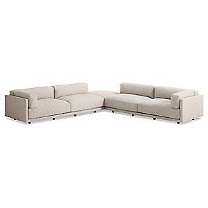 Sunday Backless L Sectional Sofa by Blu Dot