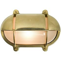 Oval Bulkhead Outdoor Wall Sconce with Eyelid Shield