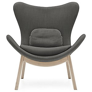 Lazy Wood Base Armchair by Calligaris
