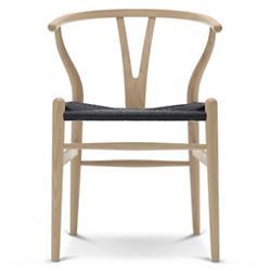 CH24 Wishbone Chair - Black Cord